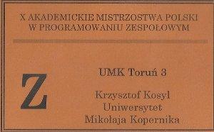 X Akademickie Mistrzostwa Polski w Programowaniu Zespołowym