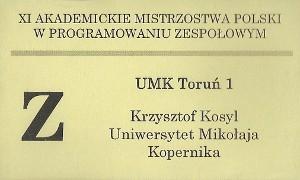 XI Akademickie Mistrzostwa Polski w Programowaniu Zespołowym