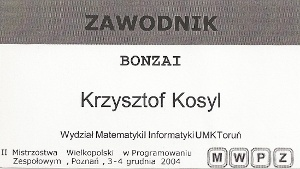 II Mistrzostwa Wielkopolski w Programowaniu Zespołowym
