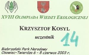 XVIII Olimpiada Wiedzy Ekologicznej