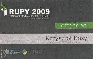RuPy 2009 – Ruby/Python conference